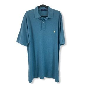 POLO by Ralph Lauren NEW Polo Shirt XLT Teal Blue